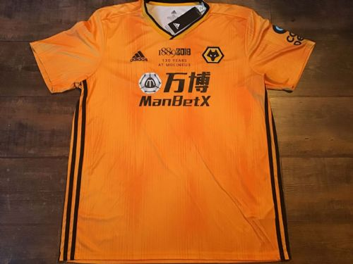 2019 Wolves BNWT New 130 years Molineux Football Shirt XL Wolverhampton Wanderers